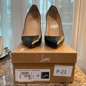 COPY - Authentic Louboutin Pigalle Follies 100 SI…